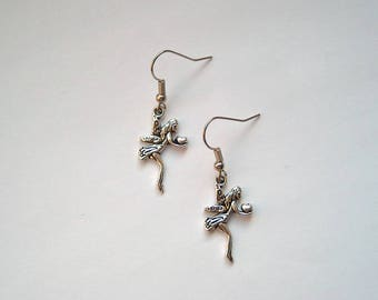 Earrings silver Elf