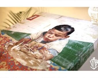 Bdayboy - mixedmedia on canvas. Collage