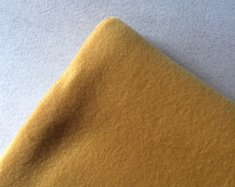 Fabric by the 1/2 Yard - Solid Gold Polar Fleece