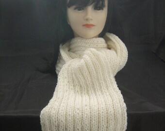 White man/woman 100% Merino scarf