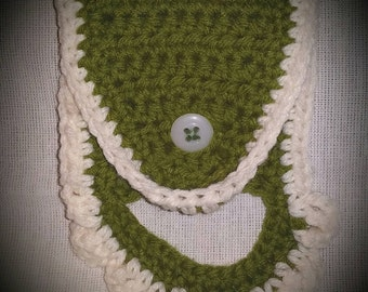 Towel holder. Crochet kitchen towel holder