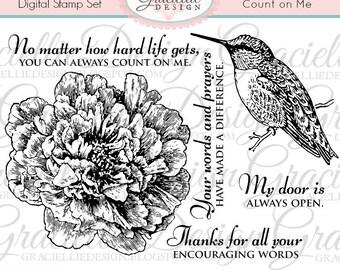 Count on Me - Digital Stamp Set