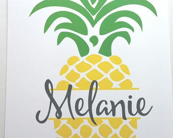 MISPRINT - Melanie Pineapple 50 Page Notebook (MP2-NB5)