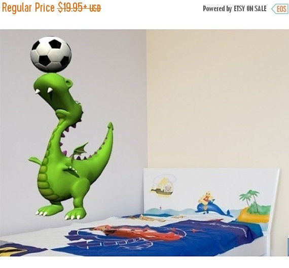 Soccer Dino for a Nursery by StyleandApplyDecals