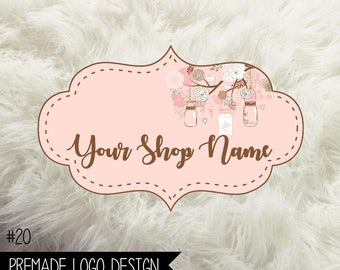 20. Premade Logo Digital File 300dpi PNG file, personalized with your shop name
