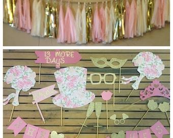 SET • Photo Booth Prop Set & Tassel Banner