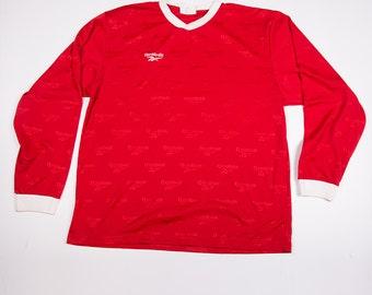 Vintage Reebok 90s Long Sleeved Soccer Jersey Top