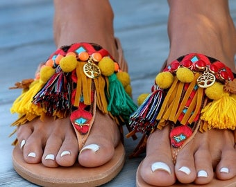 """Handmade Leather Sandals made to order, """"Afrika"""" Sandals"""