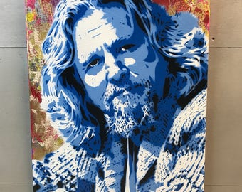 "The Big Lebowski - Painting on Gallery Canvas - 16""x20""x1"""