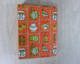 Vintage Cookbook 3 Ring Binder in Orange Printed in 1970