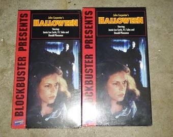 Two original Halloween VHS new