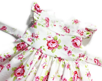 12 to 18 months baby dress infant dress pink floral dress pink dress special occasion dress toddler dress baby girl dress with sashes