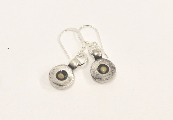 Mustard Seed Earrings on Sterling Silver Earwires, Mustard Seed Faith Jewelry, Matthew 17:20 Bible Verse Jewelry, Inspire Religious Jewelry