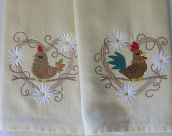 Chicken-Rooster Towel Set