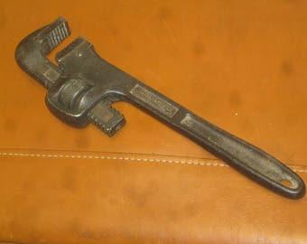 Stillson Monkey wrench , Walworth Pipe Wrench , 10 Inch Monkey Wrench