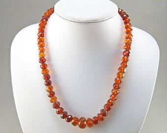 Old Amber Necklace Real Amber Jewelry Baltic Amber With Faceted Amber Beads