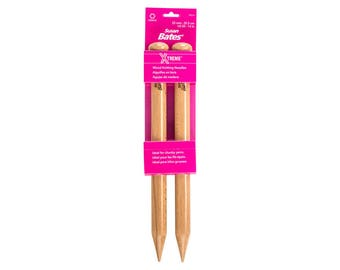 Size 50 (25mm) Susan Bates Xtreme Wood Knitting Needles, US size 50, These Big Knitting Needles are solid birch in a very nice smooth finish