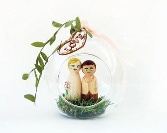 Wedding cake topper / Peg doll romantic wedding / Wedding cake figurines / Cake romantic wedding toppers - To customize