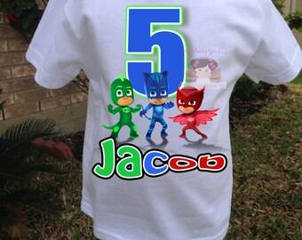 Birthday Boy Shirt,PJ Masks Birthday Shirt, Custom Birthday Shirt, PJ Masks shirt