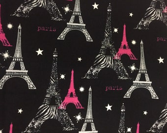 1/2 Yard Paris Eiffel Tower /  Fabric By The Yard