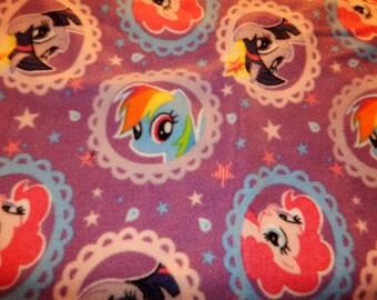 Custom Throw made with My Little Pony Portraits Fabric # 615