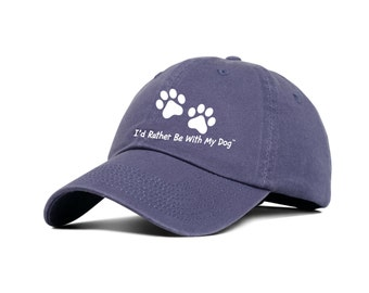 Indigo Baseball Hat - I'd Rather Be With My Dog