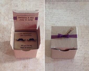 Black Mustache Earrings Bridesmaid Gift