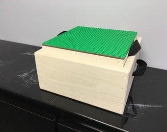 10x10 Portable LEGO Travel Tray + Box