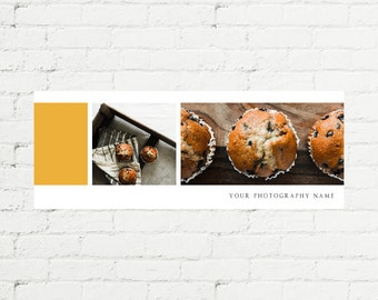 FACEBOOK Timeline Cover Design #12 / Photoshop Template / 3 Image Display + Text