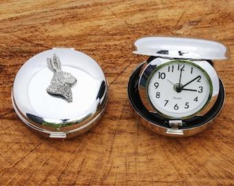 Hare Head Style Flip Up Quartz Alarm Clock Hare Shooting Gift