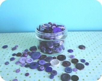 Bulk Buttons, Purple Buttons, Different sizes, Supplies for Knitting Patterns, Crochet, Collage, Scrapbooking, Button Art