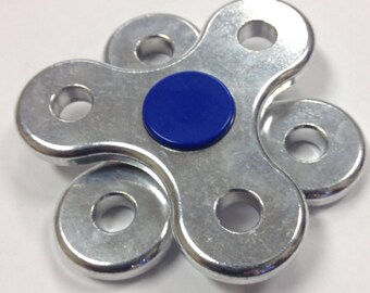 Rotating Double Spinner Fidget, durable and beautiful aluminum, sensory toy, adhd aid, spins for over two minutes