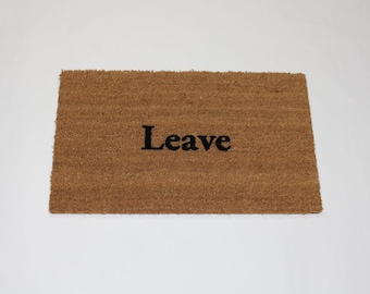 Leave Door Mat (size options)