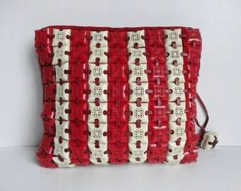 Red Ivory 40s Vintage Plasticflex Bag //  Clutch