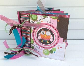 Owl Scrapbook Photo Album 6x6 Chipboard Keepsake Memory Book