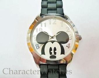 Disney Accutime Large Mickey Mouse 1990's Mens Quartz Watch