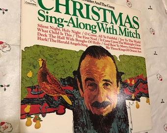 Christmas Record Sing Along With Mitch Miller Vinyl Music Christian Holiday Songs Coumbia Stereo 33 RPM 3C 38298 lcww