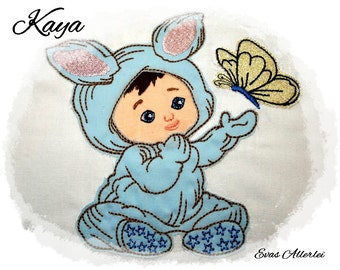 """Kaya"" embroidery file embroidery 10 x 10 and 13 x 18 frame"