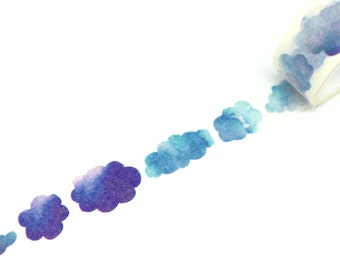 Watercolour Effect Clouds Washi Tape 20mm x 5m