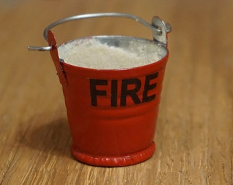 Dolls House Miniature Fire Bucket Filled With Sand
