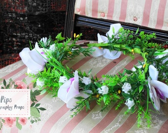 RTS- Woodland Head Wreath- Purple