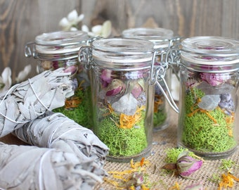 Crystal Terrarium Jar And Sage Terrarium Gift For Her Raw Crystal Healing  Crystals And Stones Bohemian