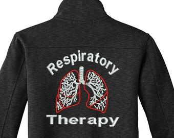 Respiratory Therapy RT Jacket | RT | Zip up Jacket | Embroidered Jacket | Monogram | Respiratory | RT Gifts | Custom Jacket | rrt | crt