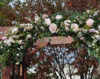 Wedding Arch, Wedding Archway Swag, Wedding Ceremony Swag, Wedding Arch flowers, Rose Arch, Coral Arch, Mantle Swag