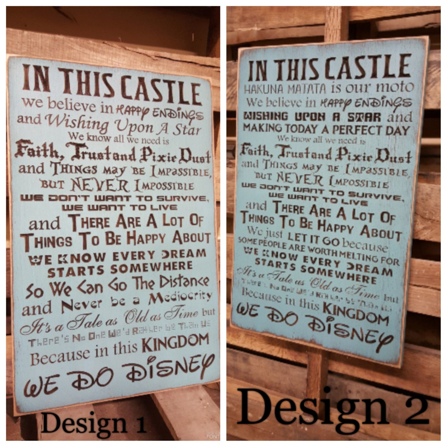 Custom Carved Wooden Sign We Do Disney In This Castle