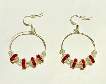 Create Your Own Beaded Hoop Earrings- Silver