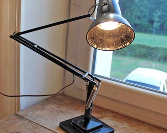 original 1940's Herbert Terry anglepoise desk stand lamp bakelite / George Carwardine design vintage industrial desk lamp