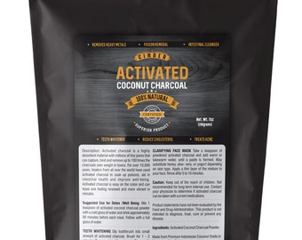 Activated Coconut Charcoal Powder Food Grade Ultra Fine (7oz)