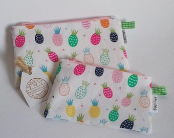 Tampon Holder Privacy Pouch Pineapples Fabric Pills Tablets Feminine Products Items Discreet Glasses Case Coin Purse e