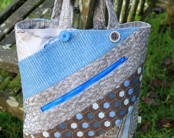 Tote bag, shopper, shopping bag, shopper with zipped pocket , tote bag with zipped pocket, lined tote with zip, carpet bag, quirky tote bag.
